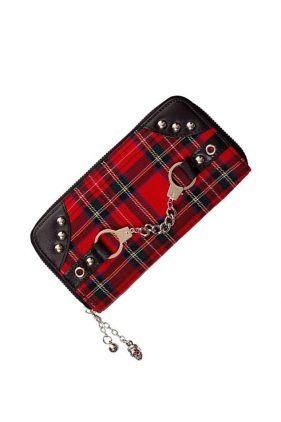 Womens Punk Tribute Tartan Purse