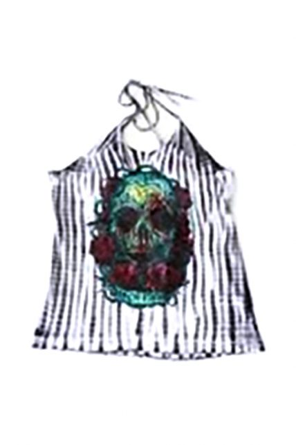 Santeria Tie Dye Twist Back Singlet (by Iron Fist)