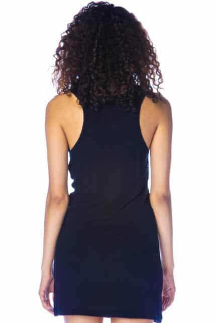 Wishbone Sequinned Black Dress