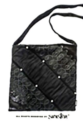 Womens Black Velvet Evening Bag (by Sinister)