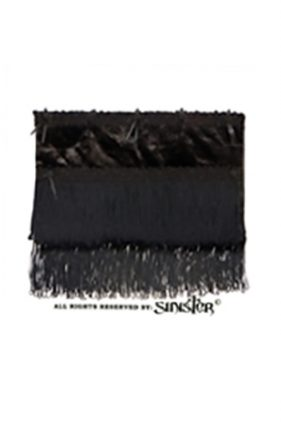 Womens Black Velvet Gothic Clutch Bag (by Sinister)