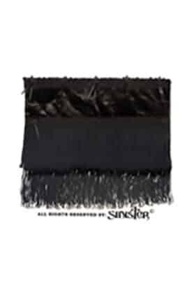 Womens Black Velvet Gothic Clutch Bag (by Sinister)
