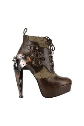Womens Oxford Brown Ankle Boots
