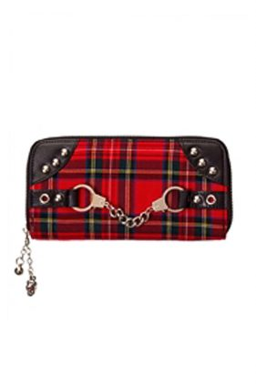 Womens Punk Tribute Tartan Purse (by Banned Apparel)