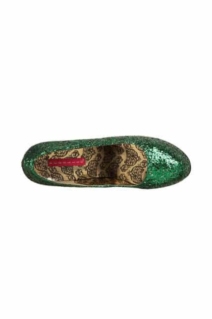 Womens Green Glitter Teeze 06 Shoes